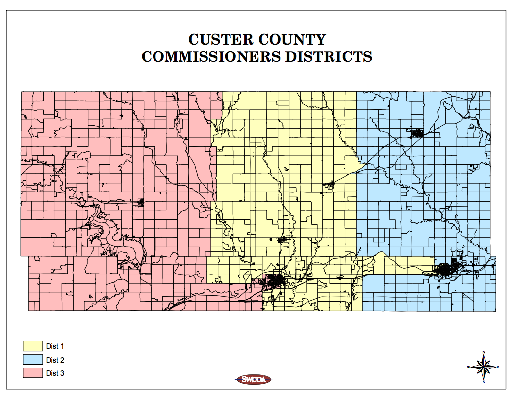 Custer County Commissioners Districts